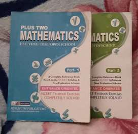 PLUS TWO MATHEMATICS Part 1 and 2(HSE/VHSE/CBSE/OPEN School)