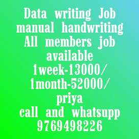New opportunity hand writing Job