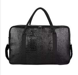 Tas Koper Jumbo Hitam Travel Bag Baju Croco Kulit Sintesis Selempang