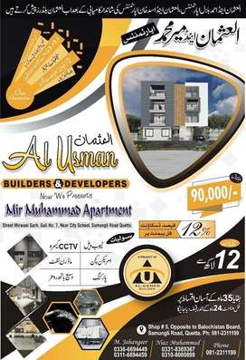 Apartment for sale at Jinnah town pvt land
