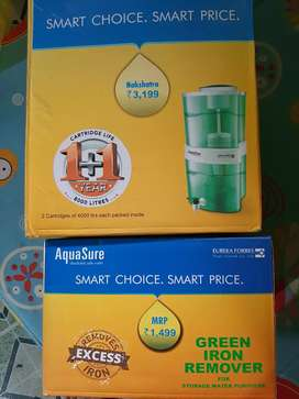 Eureka Forbes aquasure filter plus extra cartridge