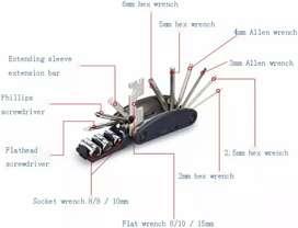 Multifunctional 15 in 1 EDC Repair Tool