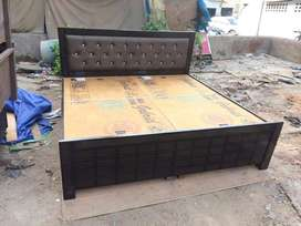 Brand new designer double bed with back culting