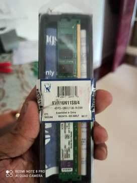 Not used 4 gb ram brought from abroad was not sutable not even used