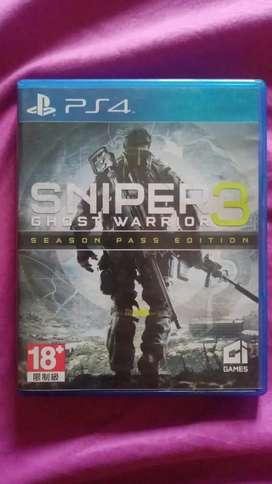 BD blueray disc ps4 sniper ghost warrior 3 reg3