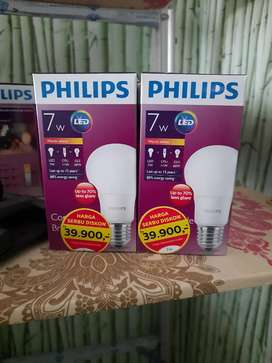 Lampu led philips 7 watt warm