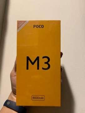Dijual Xiaomi Poco M3 6/128GB garansi resmi segel BOX TT BT