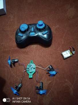 DRONE ( 4 MOTOR , TRANSMITTER REMOTE , RECEIVER , BATTERY )