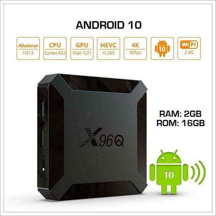 X96Q 2gb/16gb - OS 10 - 4K - Android Tv Box - 800+ live tv channels