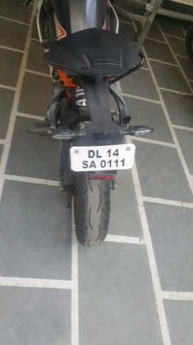 Good condition ktm with VIP number
