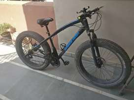 Imported Flat Big Tyres Geared Bicycle with Led wheels