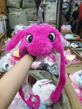 Bunny hat unicorn pink led
