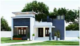 5 cent land with new house near adoor bypass