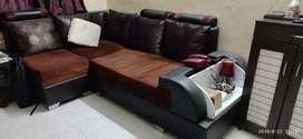 L shape soffa