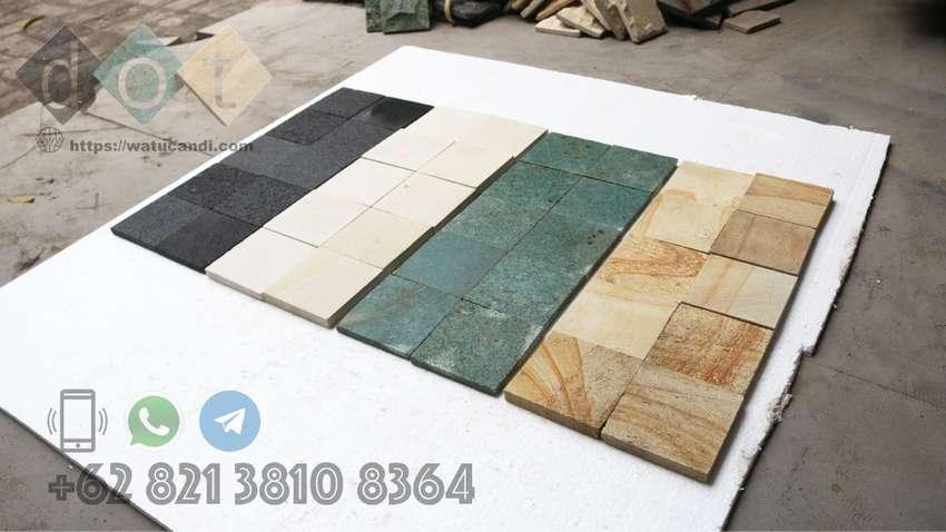 Color Mix Natural Stone Tile Ubin Batu Alam Dekorasi Hiasan Dinding. 0