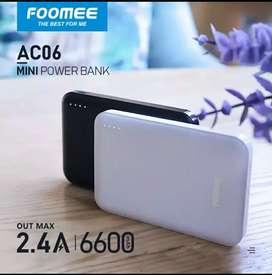Powerbank Foomee 6600 Mah 2.4 A