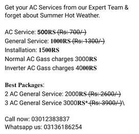 All ac service and fiting gass charge kit reparing