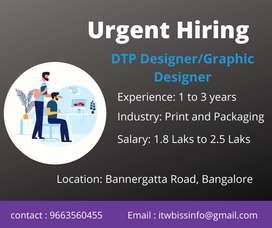urgently Hiring DTP / Graphic Designer