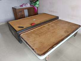 One simple bed, table