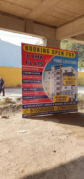 Chandulal baradari colony 3 bhk flats Fatah darwaza road with carparkn