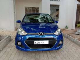 Hyundai Xcent Pristine blue color 2016