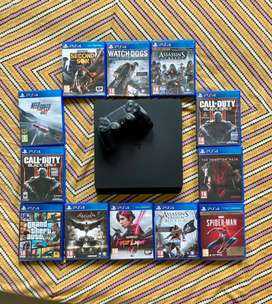 Sony playstation 4 slim. Unpatched with Ps4 games