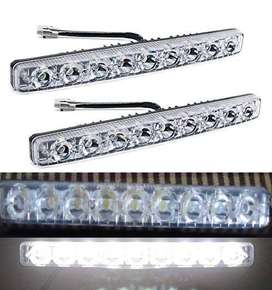 DRL Straight Light Dual Color Light 6 & 9 Led