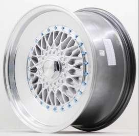 Velg extrema hsr Ring17X8/9 H10X100/112 Et35/30 Hyper silver R