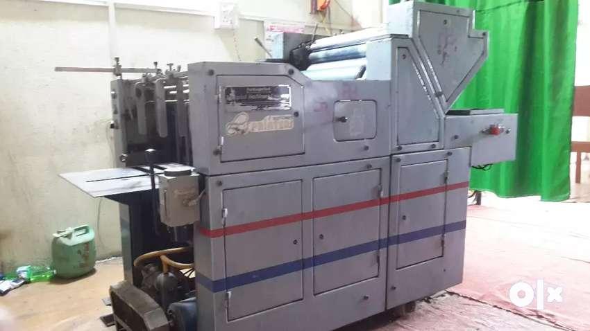 Offset printing machine, cutting machine and heater