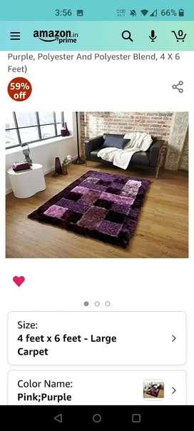 Unused purple saggy carpet
