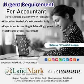 NEED FEMALE OR MALE ACCOUNTANT FOR BUILDERS