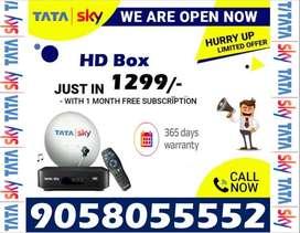 365 Days Warranty, Tata Sky Dishtv, Airteltv Tatasky Book Now DTH HD!!