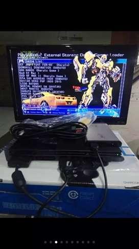 Jual PS 2 Slim HDD kondisi new dan mulus