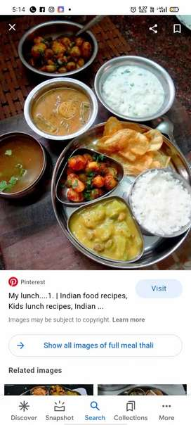 Home food is served in our house and tiffin service is also
