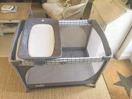 BABY BOX JOIE MEET COMMUTER CHANGE TRAVEL COT CLOUD