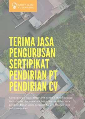 Jasa Balik Nama Tanah & Pendirian PT, CV, Yayasan