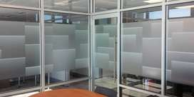 Yukpasang motifstiker sanblas kaca film yang SENADA dengan ruang kanto