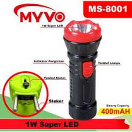 Senter Lampu LED Myvo ms 8001