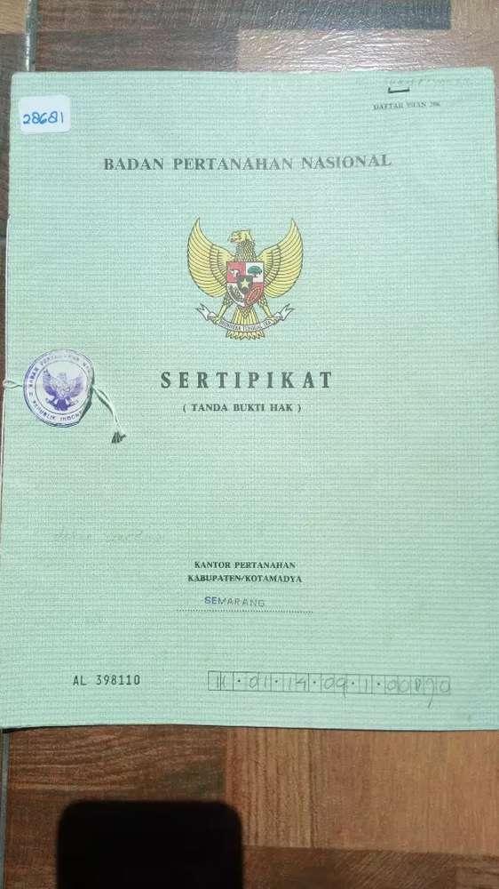dijual tanah sertifikat hm belakang rusunawa unnes