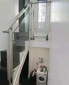 """Railing tangga stainless kaca dan balkon kaca """"5396"""