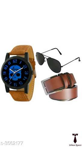 Trendy Men's Watches & Belt & Sunglass combo... By Urban Space