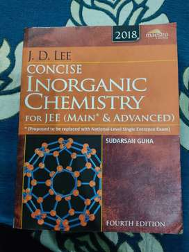 J.D. Lee inorganic chemistry for jee advance for 60%off