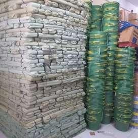 Plastik cor butek/hijau, hrg/kg