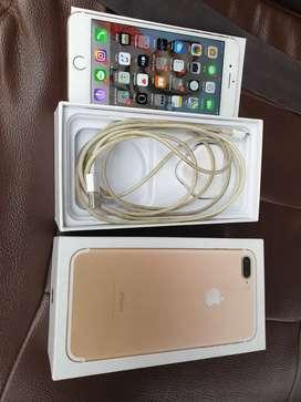 Iphone 7plus 128gb inter minus retak kaca, kamera belakang mati
