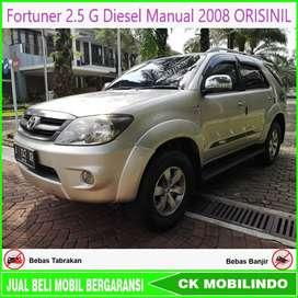 Fortuner 2.5 G Diesel Manual 2008 Orisinil Kredit Murah