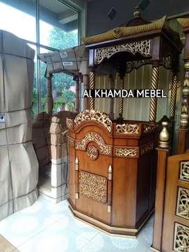 Ready Mimbar Masjid Material Kayu Jati Berkualitas @611
