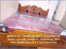 SUPER OFFER QUEEN SIZE Caribbean Forest Teak Wood STRONG Build COT SUP