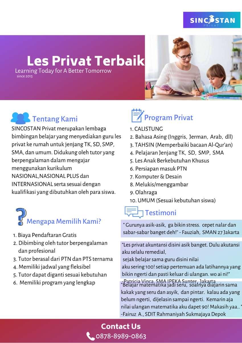 Les Privat SINCOSTAN (Jakarta,  Bogor,  Depok,  Tangerang,  Bekasi) 0