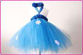 Ocean Blue Birthday Dress for Baby Girls