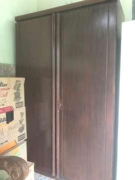 Lemari 2 pintu kayu solid jati